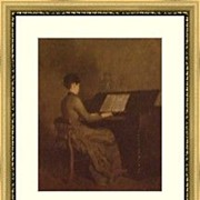 Robert Harris portrait of Harmony/Harmonie at Piano
