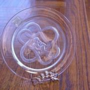 Lalique Cherub Plate