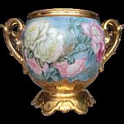Gorgeous Limoges Roses Jardiniere
