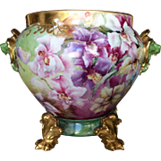 Stunning, Most Unusual Limoges Orchid Jardiniere
