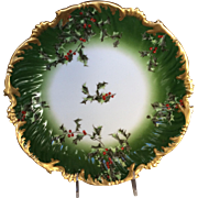 Limoges Holly and Berry Platter