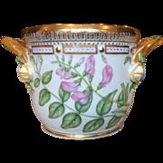 Royal Copenhagen Flora Danica Round Cachet Pot