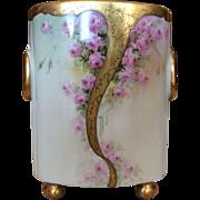 Limoges Roses Cachet Pot/Vase