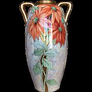 Huge Austrian Poinsettia Vase