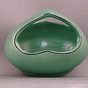 Small Oblong Green Czechoslovakia Basket