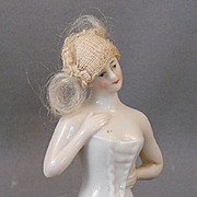 Half Doll with Hair and Cloche Hat