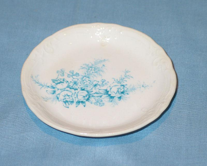 Blue Transferware Butter Pat