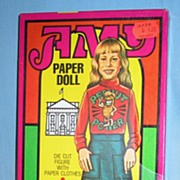 Amy Paper Doll Mint in Sealed Unopened Box  Amy Carter Presidential Daughter