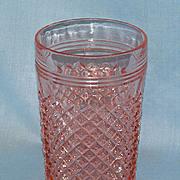 Pink Miss America Depression Glass Tumbler 10 oz. Flat Base