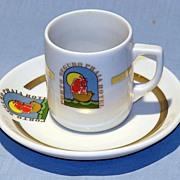 Porcelain demitasse cup Porto Seguro Praia Hotel Brazil