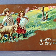 1911 Easter Shepherds, Lamb, Rabbit and Egg