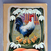 1910 Glad Easter Tidings postcard