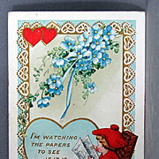 SALE 1916 Valentine Post Card