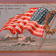SOLD 1909 Tuck's Decoration Day postcard American flag