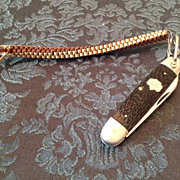SOLD Vintage Utica Featherweight Girl Scout folding 2 blade pocket knife - Red Tag Sale Item