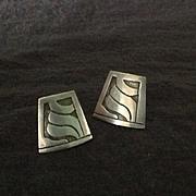 Sterling silver Taxco screw back earrings