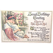 1924 Second Birthday Cradle Roll Post Card  C.M. Burd