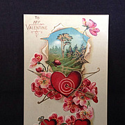 SALE 1911 Valentine postcard with an archery theme