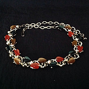 Thermoset plastic Fall color necklace