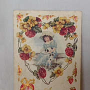 "SALE 1911  ""A Greeting of Love To Thee"" Valentine Postcard"