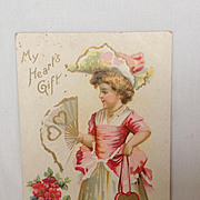 "SALE Unused Valentine Postcard. ""My Heart's Gift"""