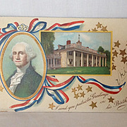 "George Washington's Birthday Unused ""I Send You Patriotic Greetings on His Birthday."""