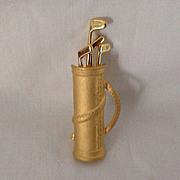 Tona Gold tone Golf Bag Pin