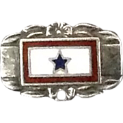 Sterling Silver World War ll Blue Star Mother Pin