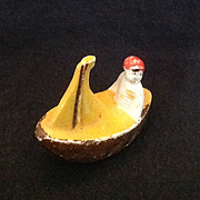 Japan bisque miniature boy in sailboat