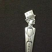 Duchess Silverplate Charlie McCarthy Souvenir Spoon