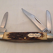 Schrade USA Uncle Henry 807UH  3-blade pocket knife with stag handle
