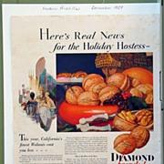 Diamond Walnuts Magazine Advertising 1929