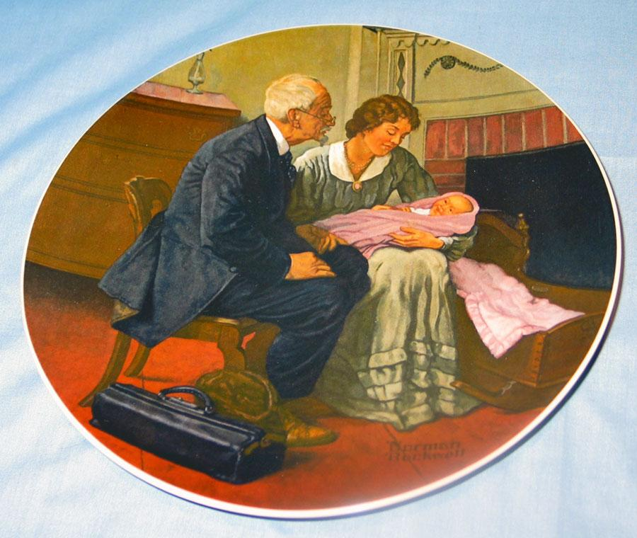 """""""Cradle of Love"""" Normal Rockwell 1980 First Edition Collector Plate"""