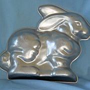 Vintage Aluminum Bunny Mould