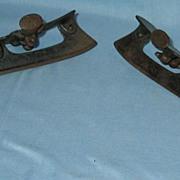 Unusual Old Adjustable Cast Iron  Ice Skates  Pat. 1878