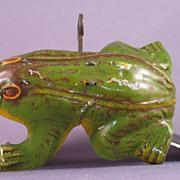 Tin Litho Mechanical Jumping Frog