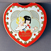 SALE 1920's American Colortype Folding Valentine Card