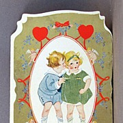 SALE 1920's Folding Valentine card