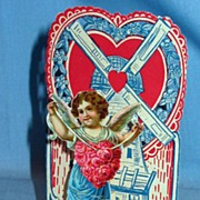 German Dimensional Valentine with Cherub