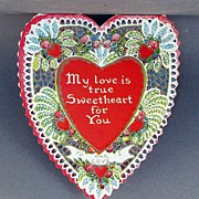 SALE Heart shaped Valentine bifold card