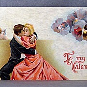 SALE Valentine Couple in a romantic embrace