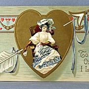 SALE 1909 Valentine To The One I Love