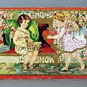 SALE 1915 To My Valentine Printed in Saxony