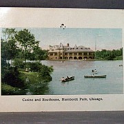 1909 Post Card Casino and Boathouse, Humboldt Park, Chicago