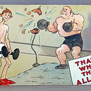 """1909  I. Gulick Comic postcard """"That's What They All Say"""""""
