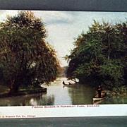 Unused Post Card Humboldt Park, Chicago