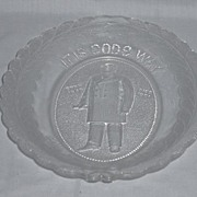 """REDUCED President McKinley Memorial Platter """"It is God's Way His Will Be Done"""""""