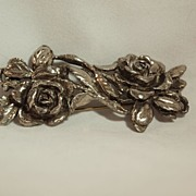 Gorgeous Sterling Silver Rose Pin