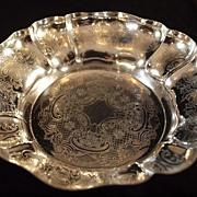 SALE Barker Ellis Silverplate on Copper Bon Bon Bowl