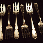 Antique Alvin Sterling Silver Francis Salad Forks